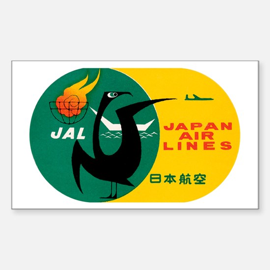 JAL Japan Air Lines Rectangle Decal