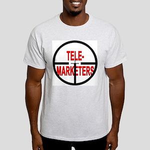 Sniper Scope Telemarketers Ash Grey T-Shirt