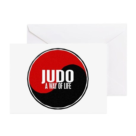 JUDO A Way Of Life Yin Yang Greeting Cards (Pk of