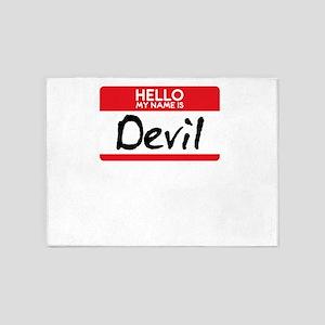 Devil Halloween Costume Satan Worsh 5'x7'Area Rug