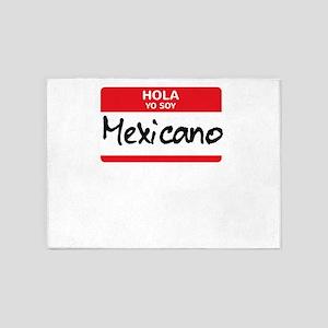 Mexicano Latino Halloween Costume M 5'x7'Area Rug
