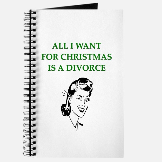 christmas divorce joke gifts Journal