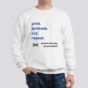 PRINT.LAMINATE.CUT.REPEAT. Sweatshirt