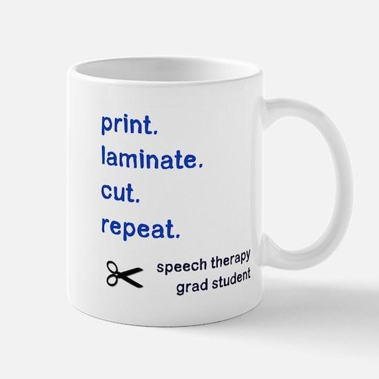PRINT.LAMINATE.CUT.REPEAT. Mug