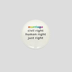 just right Mini Button