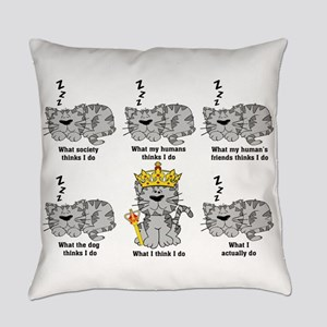 What The Cat Really Does Funny Des Everyday Pillow