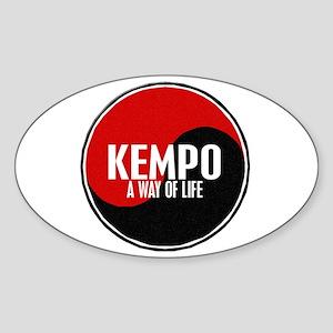 KEMPO A Way Of Life Yin Yang Oval Sticker