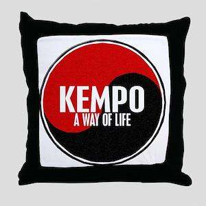 KEMPO A Way Of Life Yin Yang Throw Pillow