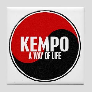 KEMPO A Way Of Life Yin Yang Tile Coaster