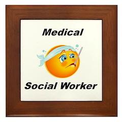 Medical Social Worker Framed Tile