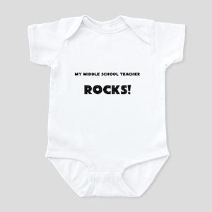 MY Middle School Teacher ROCKS! Infant Bodysuit