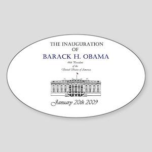 Obama Inauguration Oval Sticker