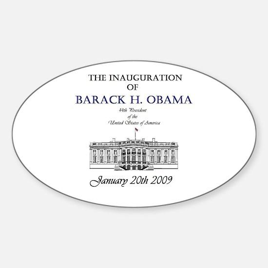 Obama Inauguration Oval Decal