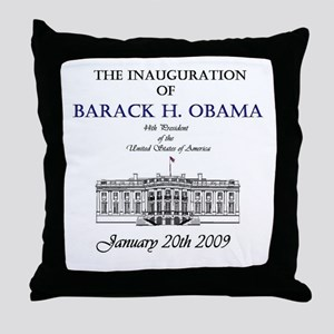Obama Inauguration Throw Pillow