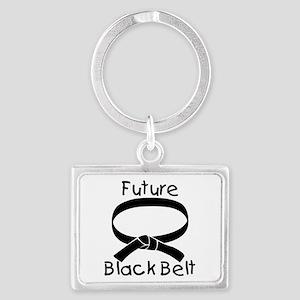 Future Black Belt Landscape Keychain