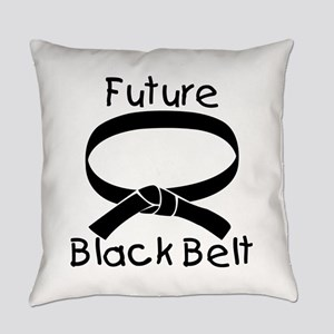 Future Black Belt Everyday Pillow