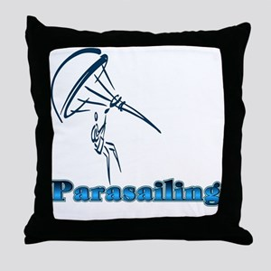 Parasailing Throw Pillow