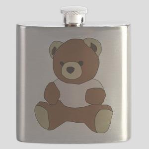 Cute Teddy Bear in Pink Top Flask