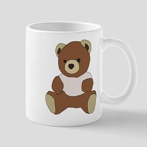 Cute Teddy Bear in Pink Top Mugs