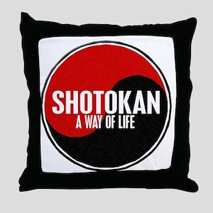 SHOTOKAN Way Of Life Yin Yang Throw Pillow