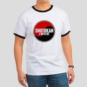 SHOTOKAN Way Of Life Yin Yang Ringer T