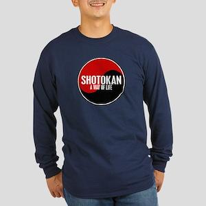 SHOTOKAN Way Of Life Yin Yang Long Sleeve Dark T-S