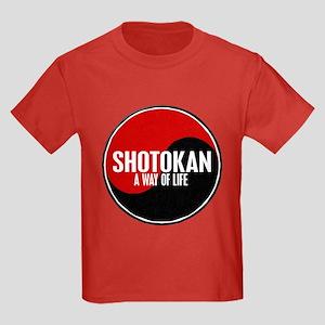 SHOTOKAN Way Of Life Yin Yang Kids Dark T-Shirt
