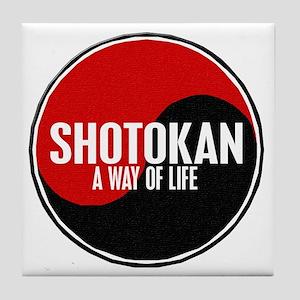 SHOTOKAN Way Of Life Yin Yang Tile Coaster