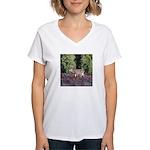 Buck in Afternoon Sunlight Women's V-Neck T-Shirt
