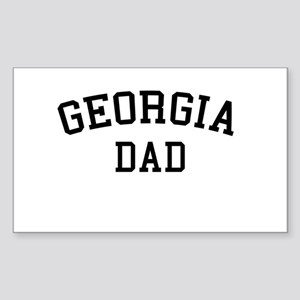 Georgia Dad Rectangle Sticker