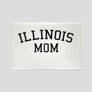 Illinois Mom Rectangle Magnet