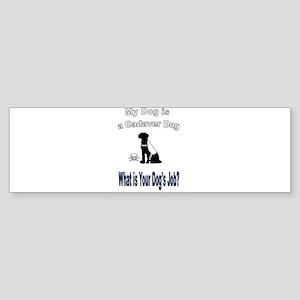 I'm a cadaver dog Bumper Sticker