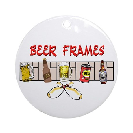Beer Frames Ornament (Round)