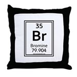 Bromine Throw Pillow