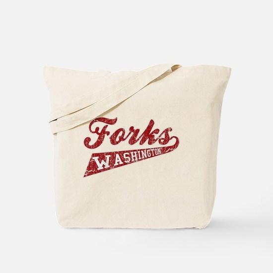 Vintage Twilight Forks Wa Tote Bag