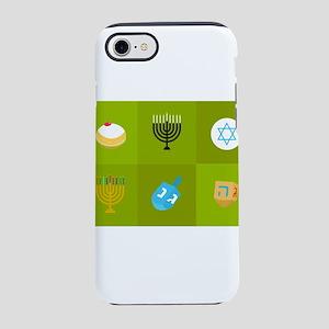 colorblock green hanukkah iPhone 8/7 Tough Case