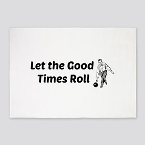 Let the Good Times Roll 5'x7'Area Rug