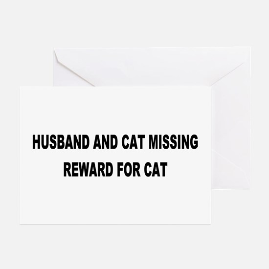 Husband & Cat Missing... Greeting Cards (Package o