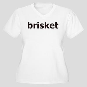 Brisket Women's Plus Size V-Neck T-Shirt