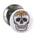 Day of the Dead Skull Button