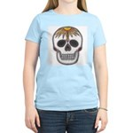 Day of the Dead Skull Women's Pink T-Shirt