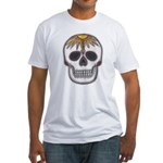 Day of the Dead Skull Fitted T-Shirt