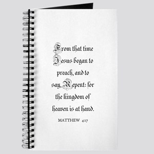MATTHEW 4:17 Journal