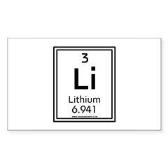 Lithium Rectangle Decal
