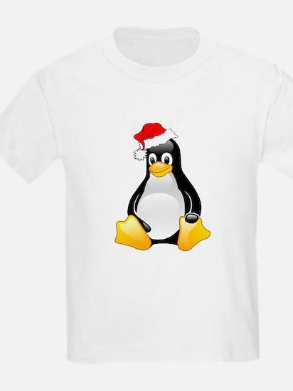Tux The Christmas Penguin Kids T-Shirt