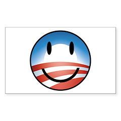 Happy Obama Rectangle Sticker 10 pk)