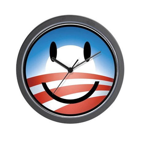Happy Obama Wall Clock