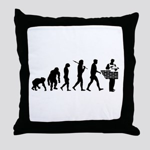 Bricklayer Brick Mason Throw Pillow