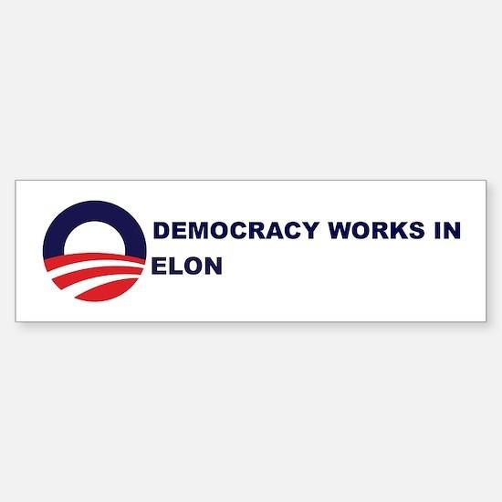 Democracy Works in ELON Bumper Bumper Bumper Sticker