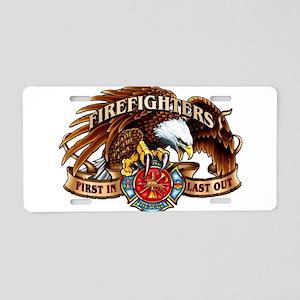 firefighter eagle Aluminum License Plate